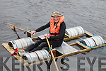 Going it alone Des Lavelle on his one man craft at the raft race in Valentia on Saturday.
