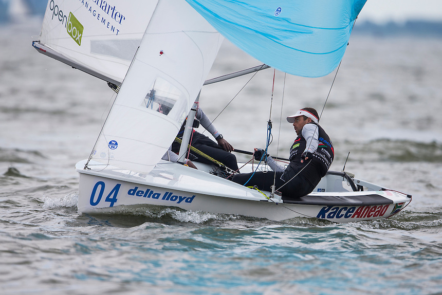 Delta Lloyd Regatta | Day 5 | Medal Races | Winner 470 Men (RSA) JIM Asenathi	HUDSON Roger | Medemblik (NED) | Photo : Guilain GRENIER