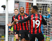 Callum Wilson of AFC Bournemouth middle celebrates scoring the first goal during AFC Bournemouth vs Manchester United, Premier League Football at the Vitality Stadium on 3rd November 2018