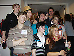 current cast members Newsies at the VIP reception during Newsies Fan Day at The Paper Mill Playhouse on October 2, 2010 in Millburn, New Jersey with current cast members and cast members of the film. It was a day of events to all devoted fans of Newsies - Radio Disney at 4 pm, executive reception for members of the original cast of Newsies (the movie) followed by a talkback, Q&A in the theater - all this followed by the evening performance of Newsies with the Curtain Call, old cast meets new cast and a cast photo of all. (Photo by Sue Coflin/Max Photos)
