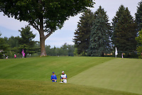 Carlota Ciganda (ESP) looks over her bunker shot on 1 during the round 3 of the KPMG Women's PGA Championship, Hazeltine National, Chaska, Minnesota, USA. 6/22/2019.<br /> Picture: Golffile | Ken Murray<br /> <br /> <br /> All photo usage must carry mandatory copyright credit (© Golffile | Ken Murray)