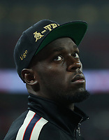 Usain Bolt was involved with the half-time entertainment<br /> <br /> Photographer Rob Newell/CameraSport<br /> <br /> The Wayne Rooney Foundation International - England v United States - Thursday 15th November 2018 - Wembley Stadium - London<br /> <br /> World Copyright © 2018 CameraSport. All rights reserved. 43 Linden Ave. Countesthorpe. Leicester. England. LE8 5PG - Tel: +44 (0) 116 277 4147 - admin@camerasport.com - www.camerasport.com