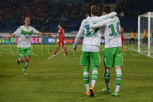 01.03.2016. Hannover, Germany. Bundesliga Football Hannover 96 versus VfL Wolfsburg.   Scorer for 0:4 Julian Draxler (VFL Wolfsburg)
