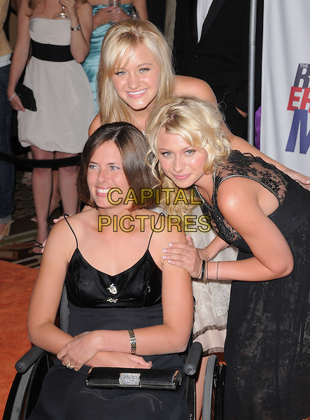 ALY & AJ pose with their cousin.Attending The 15th Annual Race to Erase MS Fundraiser held at The The Hyatt Regency Century Plaza Hotel in Century City, California, USA,.May 02 2008..half length family black dress  wheelchair.CAP/DVS.©Debbie VanStory/Capital Pictures