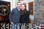 Thomas O'Connor and Tracy O'Neill, Camp enjoying a Valentine's Day meal at Stone House on Friday