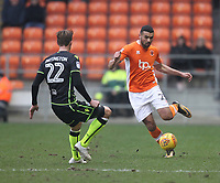 Blackpool's Colin Daniel battles with Bristol Rovers' Joe Partington<br /> <br /> Photographer Mick Walker/CameraSport<br /> <br /> The EFL Sky Bet League One - Blackpool v Bristol Rovers - Saturday 13th January 2018 - Bloomfield Road - Blackpool<br /> <br /> World Copyright &copy; 2018 CameraSport. All rights reserved. 43 Linden Ave. Countesthorpe. Leicester. England. LE8 5PG - Tel: +44 (0) 116 277 4147 - admin@camerasport.com - www.camerasport.com