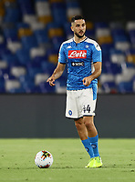 25th July 2020; Stadio San Paolo, Naples, Campania, Italy; Serie A Football, Napoli versus Sassuolo; Konstantinos Manolas of Napoli comes forward on the ball