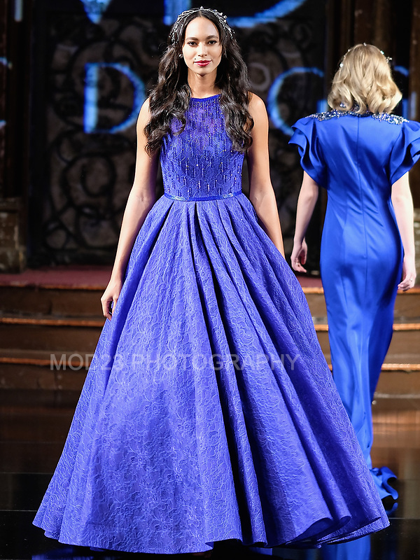 Mac Duggal  FW18  Collection at ArtHearts New York Fashion Week