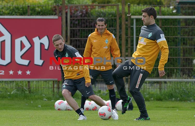 23.05.2013, Trainingsgelaende, Bremen, GER, 1.FBL, Training Werder Bremen, im Bild Sokratis (Bremen #22, rechts)<br /> <br /> Foto &copy; nph / Frisch