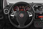Car pictures of steering wheel view of a 2014 Fiat PUNTO SPORTLINE 5 Door Hatchback 2WD Steering Wheel