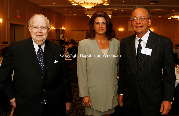 SOUTHBURY, CT-10 May 2006-051006TK03- (left to right)  Also attending the Connecticut Community Foundation 83rd Annual meeting and breakfast was Charles Barlow, Lisa Powers and Fred Baker. Tom Kabelka Republican-American (Charles Barlow, Lisa Powers and Fred Baker)