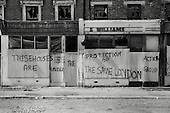 1975: demolition of shops and houses in Kensal Road, North Kensington.