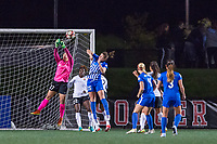 Boston, MA - Saturday September 30, 2017: Caroline Casey and Morgan Andrews during a regular season National Women's Soccer League (NWSL) match between the Boston Breakers and Sky Blue FC at Jordan Field.