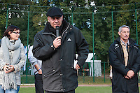 24 October 2010: FFBSC President Didier Seminet is seen as Rouen defeats 5-1 Savigny, during game 4 of the French championship finals, in Rouen, France. Rouen wins his 7th French Championship in 8 years.