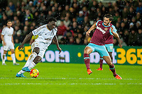 Bafetibis Gomis of Swansea of in action during the Barclays Premier League match between Swansea City and West Ham United played at the Liberty Stadium, Swansea  on December 20th 2015