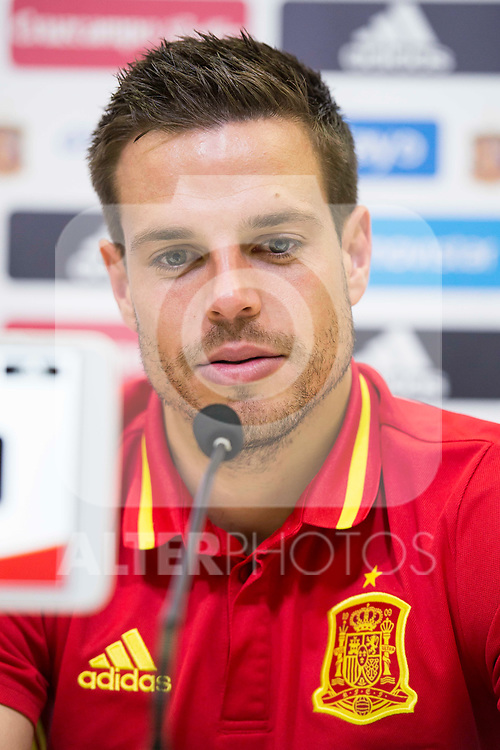 Cesar Azpilicueta during press conference at city of football of Las Rozas in Madrid, June 04, 2017. Spain.<br /> (ALTERPHOTOS/BorjaB.Hojas)