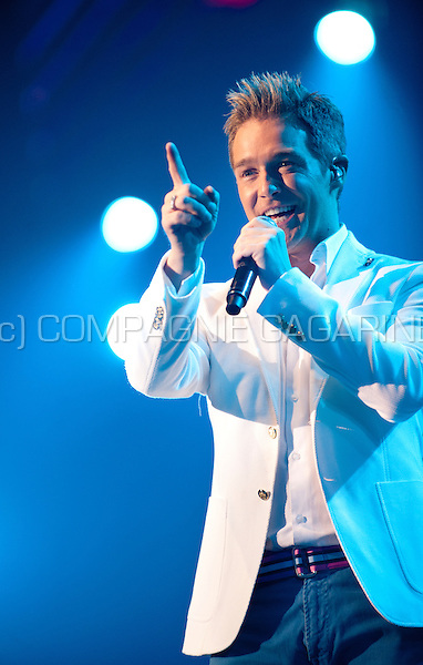 Flemish singer Christoff in concert at the Schlagerfestival in Hasselt (Belgium, 31/03/2013)