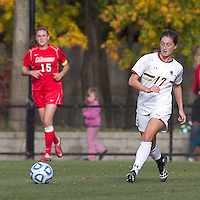 Boston College forward Alaina Beyar (17) passes the ball. Boston College defeated Marist College, 6-1, in NCAA tournament play at Newton Campus Field, November 13, 2011.