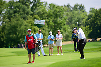 Sung Hyun Park (KOR) hits her approach shot on 1 during Sunday's final round of the 72nd U.S. Women's Open Championship, at Trump National Golf Club, Bedminster, New Jersey. 7/16/2017.<br /> Picture: Golffile | Ken Murray<br /> <br /> <br /> All photo usage must carry mandatory copyright credit (&copy; Golffile | Ken Murray)