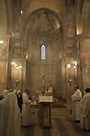 Israel, Christmas at the Crusader Church in Abu Gosh