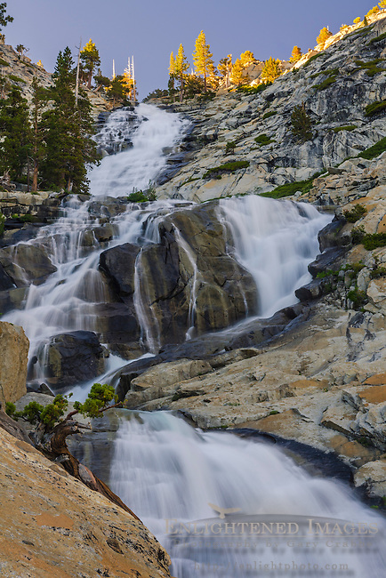 Horsetail Falls along Pyramid Creek, Deoslation Wilderness, El Dorado County, California