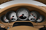 Instrument panel close up detail view of a 2009 Porsche Carrera Coupe S