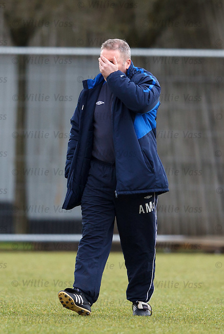 Ally McCoist puts his head in his hands