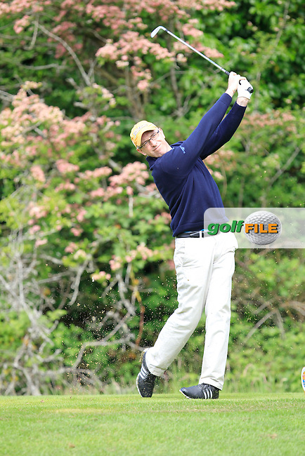 Donal O'Brien (Laytown &amp; Bettystown) on the 2nd tee during Round 1 of the Irish Mid-Amateur Open Championship at New Forest on Saturday 20th June 2015.<br /> Picture:  Thos Caffrey / www.golffile.ie