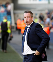 Millwall FC manager, Neil Harris seen during the Sky Bet Championship match between Millwall and Ipswich Town at The Den, London, England on 15 August 2017. Photo by Carlton Myrie.
