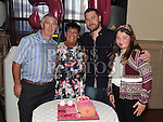 Linda Courtney celebrating her 50th birthday in the Thatch with husband David, son Gary and grandaughter Hannah. Photo:Colin Bell/pressphotos.ie