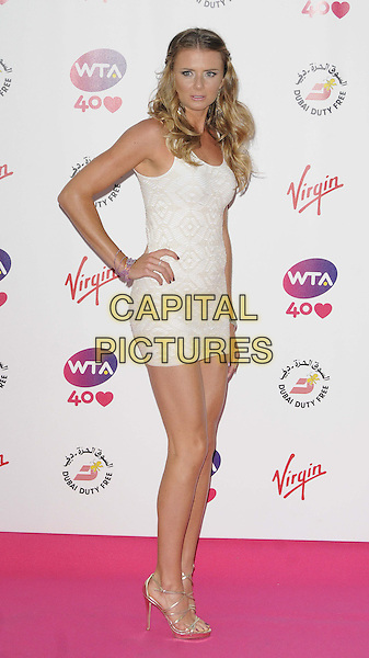 Daniela Hantuchova<br /> attended the WTA Pre-Wimbledon Party, Kensington Roof Gardens, Kensington High St., London, England, UK, 20th June 2013.<br /> full length white dress patterned hand on hip strappy shoes sandals gold <br /> CAP/CAN<br /> &copy;Can Nguyen/Capital Pictures