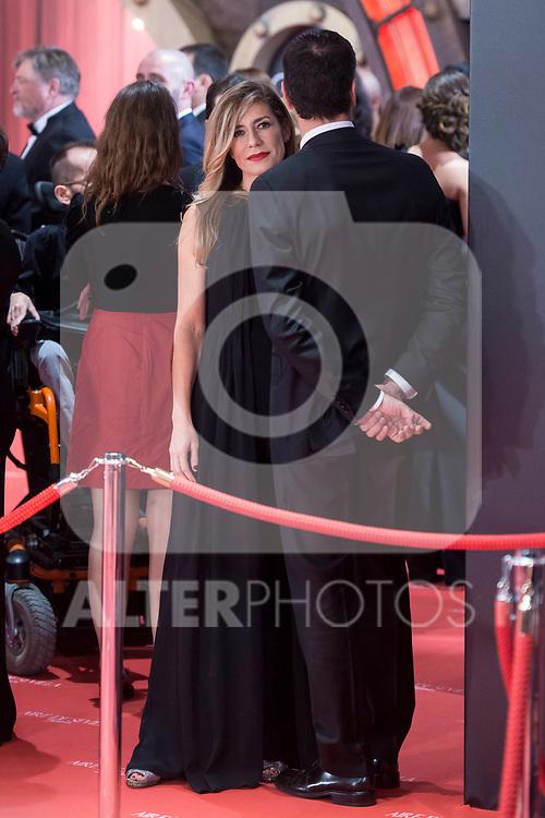Pedro Sanchez and Begona Fernandez attends red carpet of Goya Cinema Awards 2018 at Madrid Marriott Auditorium in Madrid , Spain. February 03, 2018. (ALTERPHOTOS/Borja B.Hojas)