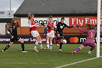 Vivianne Miedema of Arsenal scores the fourth goal for her team during Arsenal Women vs Bristol City Women, Barclays FA Women's Super League Football at Meadow Park on 1st December 2019