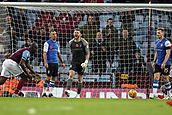 4th November 2017, Villa Park, Birmingham, England; EFL Championship football, Aston Villa versus Sheffield Wednesday; Keiren Westwood of Sheffield Wednesday shouts at his defenders as Sheffield Wednesday concede a goal in the last minute of the game