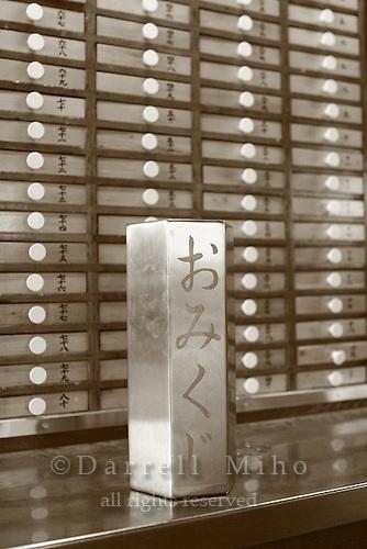 Mar 6, 2006; Tokyo, JPN; Asakusa.Drawers contain mikuji (written fortunes)...Photo credit:  Darrell Miho