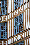 Traditional Building Facade in Rouen, Normandy, France
