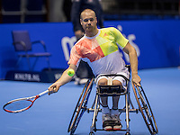 Rotterdam, Netherlands, December 13, 2016, Topsportcentrum, Lotto NK Tennis,  Wheelchair, Maikel Scheffers (NED)<br /> Photo: Tennisimages/Henk Koster