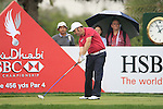 Damien McGrane tees off on the 9th tee during Day 2 Friday of the Abu Dhabi HSBC Golf Championship, 21st January 2011..(Picture Eoin Clarke/www.golffile.ie)