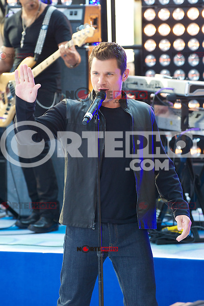 NEW YORK, NY - AUGUST 17: 98 Degrees perform on NBC's Today Show Toyota Concert Series at Rockefeller Center in New York City. August 17, 2012. ©mpi44/MediaPunch Inc. /NortePhoto.com<br /> <br /> **SOLO*VENTA*EN*MEXICO**<br />  **CREDITO*OBLIGATORIO** *No*Venta*A*Terceros*<br /> *No*Sale*So*third* ***No*Se*Permite*Hacer Archivo***No*Sale*So*third*