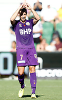 11th January 2020; HBF Park, Perth, Western Australia, Australia; A League Football, Perth Glory versus Adelaide United; Joel Chianese of the Perth Glory celebrates his goal in the 27th minute to put Glory in front 1-0 - Editorial Use