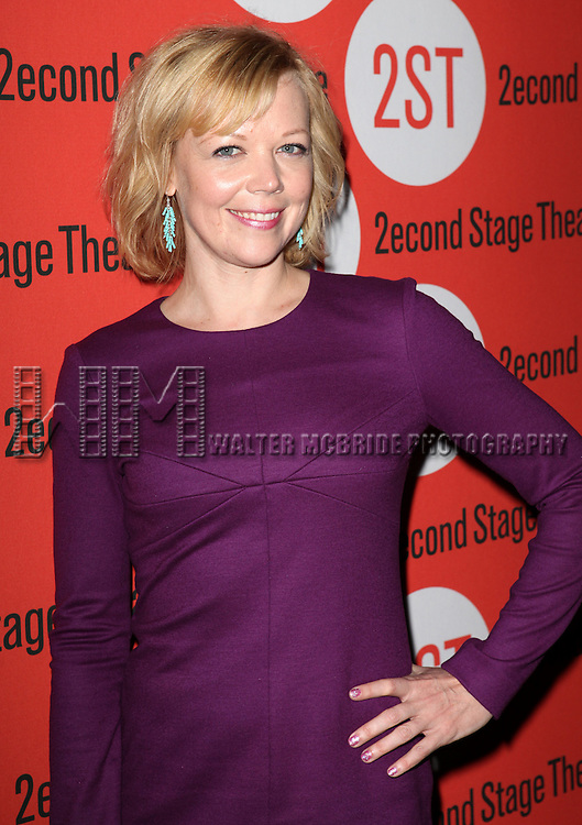 Emily Bergl.attending the Off-Broadway Opening Night Performance Party for the Second Stage Theatre's 'Lonely, I'm Not' at HB Burger in New York City on 5/7/2012.