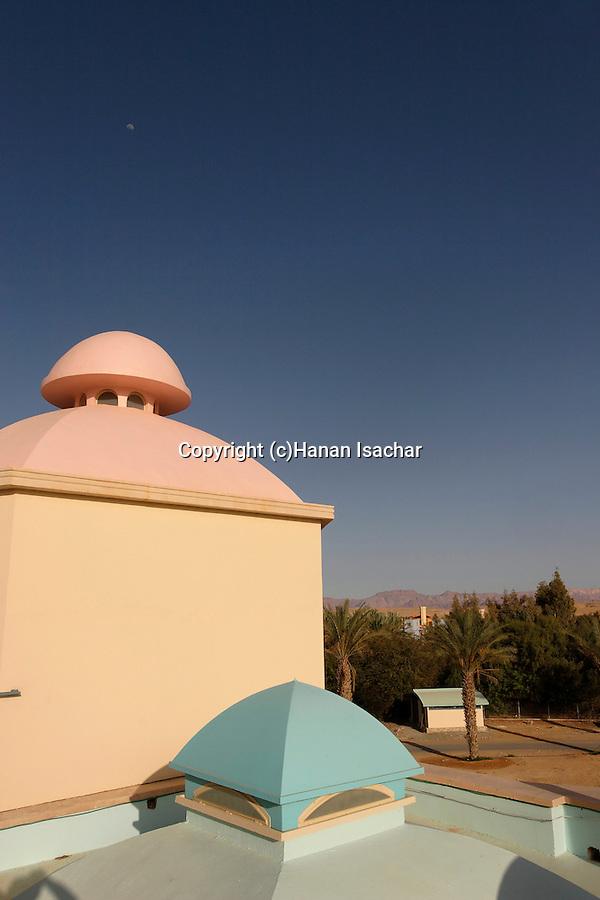 """Israel, Arava. The """"Desert Facility"""" in kibbutz Neot Smadar"""