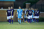 The High Point Panthers take the field prior to the start of their match against the Wake Forest Demon Deacons at W. Dennie Spry Soccer Stadium on October 9, 2018 in Winston-Salem, North Carolina.  The Demon Deacons defeated the Panthers 4-2.  (Brian Westerholt/Sports On Film)