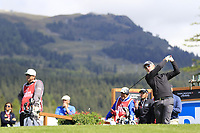 Brandon Stone (RSA) tees off the 14th tee during Thursday's Round 1 of the 2017 Omega European Masters held at Golf Club Crans-Sur-Sierre, Crans Montana, Switzerland. 7th September 2017.<br /> Picture: Eoin Clarke | Golffile<br /> <br /> <br /> All photos usage must carry mandatory copyright credit (&copy; Golffile | Eoin Clarke)