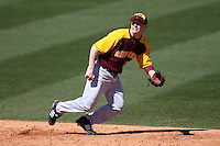 March 7, 2010:  Shortstop Jordan Dean (7) of the Central Michigan Chippewas during game at Jay Bergman Field in Orlando, FL.  Central Michigan defeated Central Florida by the score of 7-4.  Photo By Mike Janes/Four Seam Images