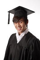 montreal  (QC) CANADA - Sept  2009 - model released photo of an asian teenage male graduate