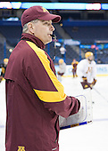 Don Lucia (Minnesota - Head Coach) - The University of Minnesota Golden Gophers practiced on Wednesday, April 4, 2012, during the 2012 Frozen Four at the Tampa Bay Times Forum in Tampa, Florida.