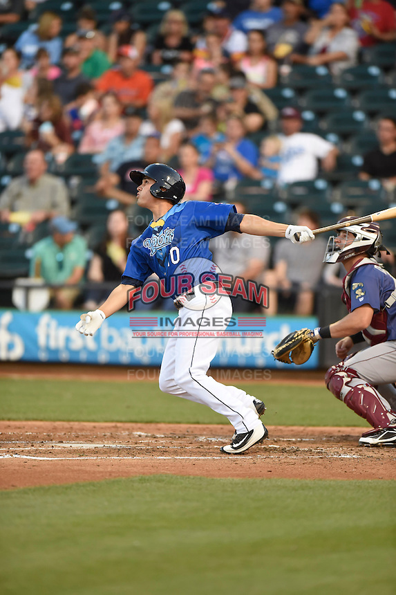 ***Temporary Unedited Reference File***Corpus Christi Hooks shortstop Mott Hyde (10) during a game against the Frisco RoughRiders on April 23, 2016 at Whataburger Field in Corpus Christi, Texas.  Corpus Christi defeated Frisco 3-2.  (Mike Janes/Four Seam Images)