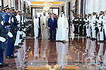 Egypt's President Abdel Fattah al-Sisi meets with, Shaikh Mohammed bin Zayed Al Nahyan, Crown Prince of Abu Dhabi, during his visit to ِAbu Dhabi, on October 28, 2015. Al-Sisi discussed the state of affairs of the brotherly bilateral ties and joint strategic co-operation in various domains within the context of the two countries' commitment to further solidify them for mutual interests. Photo by Egyptian President Office
