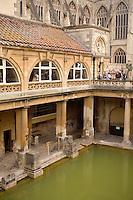 exterior Roman bath in Bath, England